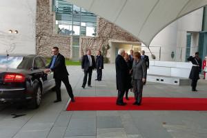 Il Presidente della Repubblica Sergio Mattarella e la Cancelliera Angela Merkel © il Deutsch-Italia