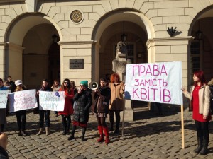 Demonstration-Int-Frauentag-Lviv