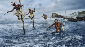 Steve McCurry -Stilt-fishermen-Weligama-South-coast-Sri-Lanka-1995