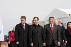 Miller, Medvedev Schröder © Nord Stream