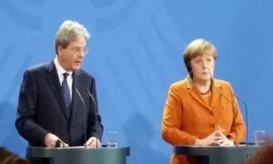 Paolo Gentiloni con la Cancelliera Merkel © il Deutsch-Italia