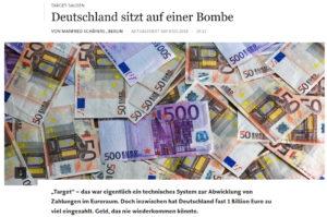 Frankfurter Allgemeine Zeitung - Deutschland sitz auf einer Bombe