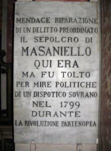 Lapide Masaniello © Wikipedia Il Demiurgo