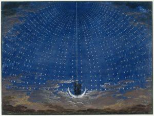 Scenografia per Il flauto magico di Karl Friedrich Schinkel