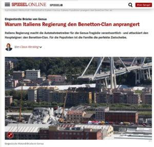 L'articolo a favore dei Benetton © Der Spiegel