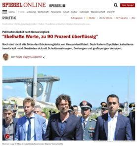 L'attacco al Governo © Der Spiegel