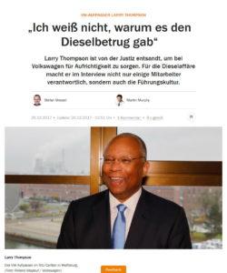 """Larry Thomson citato dal quotidiano tedesco """"Handelsblatt"""""""