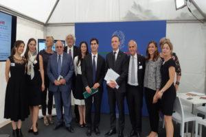 La delegazione italiana Il Sottosegretario Guglielmo Picchi e il Primo ministro Gaudiano Bürgerfest 2018© il Deutsch-Italia