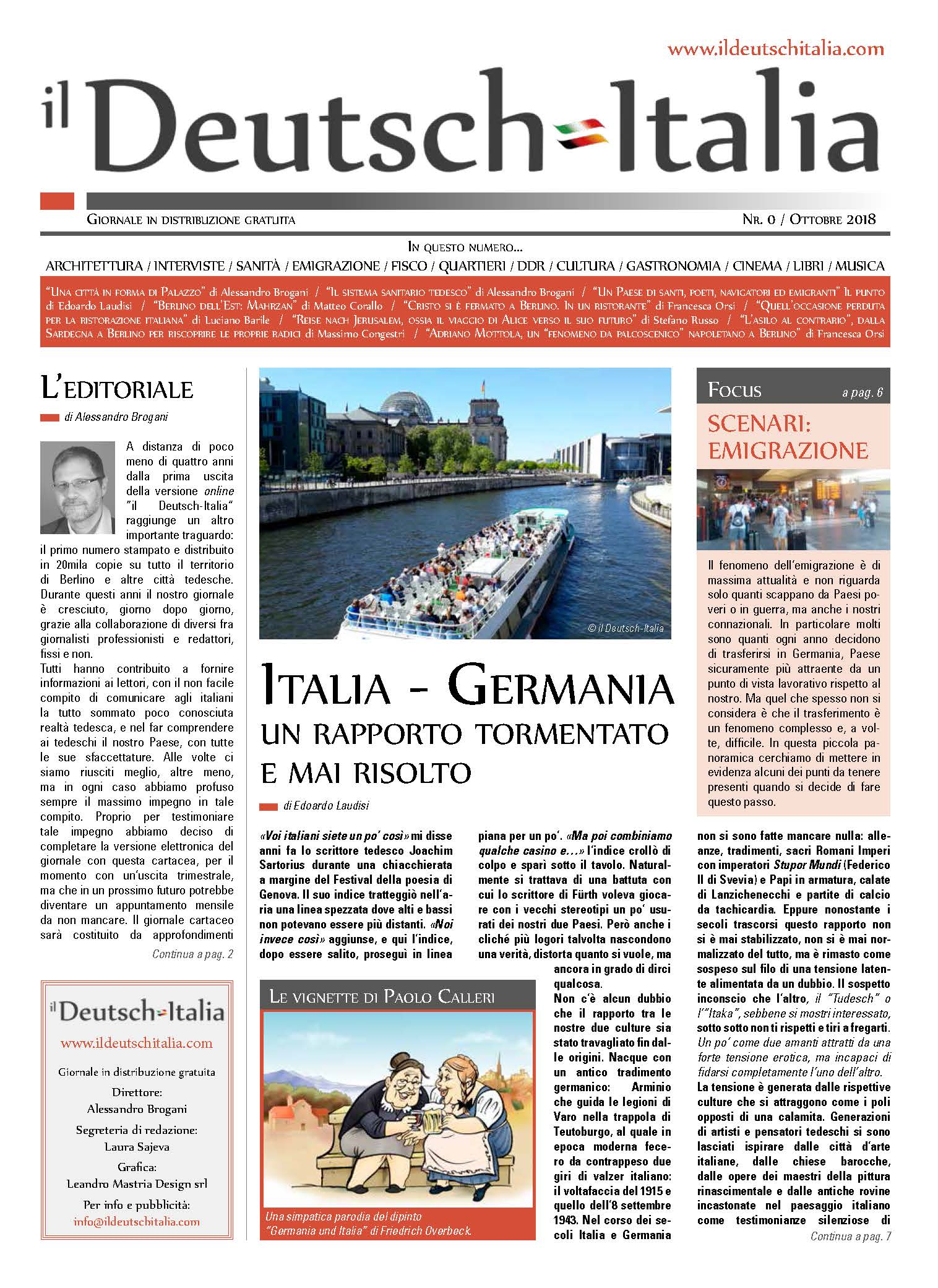Copertina numero 0 © il Deutsch-Italia