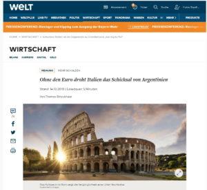 Welt - Italia come l'Argentina