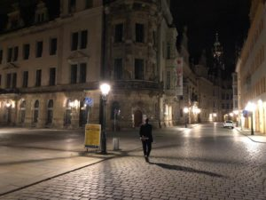 Lino De Palmas per le strade di Dresda