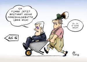 Bayernwahl: Parteivorsitzender Seehofer denkt nicht an Rücktritt. Elezioni in Baviera: il presidente del partito Seehofer non pensa alle dimissioni.