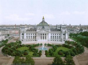Il Reichstag nei primi del '900