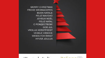 Auguri di Natale Frohe Wehinachten