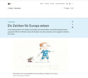 Ein Zeichen für Europa setzen © www.bundesregierung.de