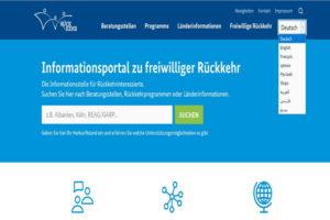Il sito Internet nelle diverse lingue