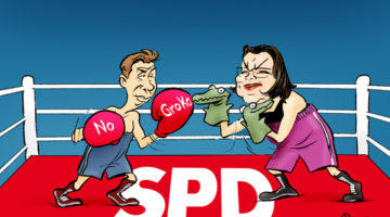 Jusos kritisieren SPD-Parteiführung. I giovani della SPD criticano la leadership del partito
