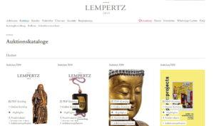 Il catalogo della Lempertz © Lempertz.de