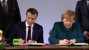 Aquisgrana Merkel-Macron © Youtube Rt Deutsch