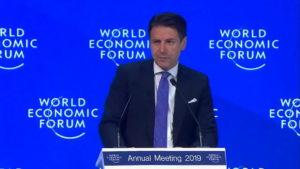 Il Presidente Conte a Davos © Youtube Palazzo Chigi