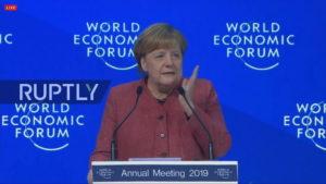 La Cancelliera Merkel a Davos © Youtube Ruptly