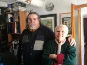 Il Maestro con la sorella Anna