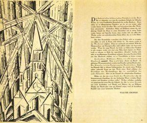 Il manifesto del Bauhaus 1919 Lyonel Feininger