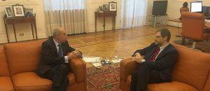 Momenti dell'intervista all'Ambasciatore