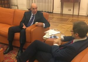 Momenti dell'intervista all'Ambasciatore
