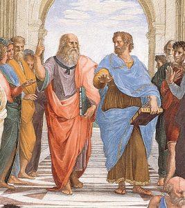 """Platone e Aristotele - Raffaello Sanzio """"La scuola di Atene"""""""