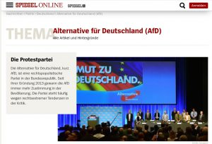 AfD sullo Spiegel online