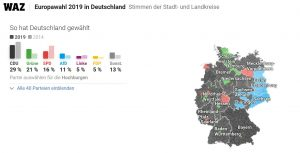 Il voto in Germania Karte © MapTiler © OpenStreetMap contributors