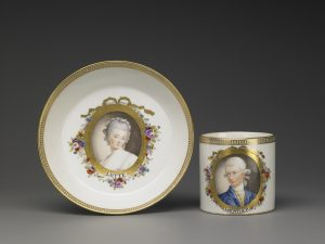 J. G. Loehning Tazza e sotto-tazza con ritratto di Werther e Lotte © Casa di Goethe
