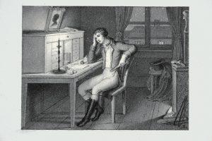 L. F. Schnorr von Carolsfeld Werther alla scrivania © Casa di Goethe