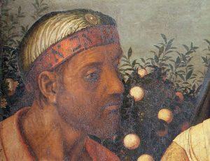 Mantegna La sacra famiglia e la famiglia del Battista particolare © Silvana Editoriale