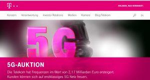 Il sito di Deutsche Telekom