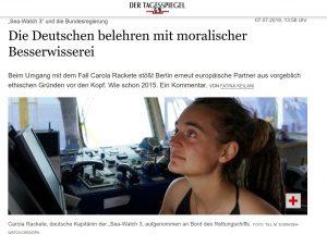 L'articolo del Tagesspiegel