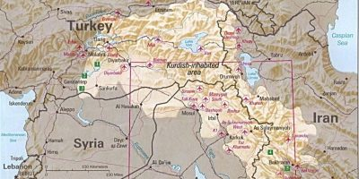 Il Kurdistan secondo la CIA