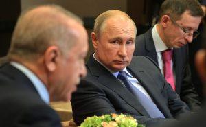 Vladimir Putin e Recep Tayyip Erdoğan durante i colloqui a Sochi © Kremlin.ru