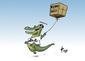 Klimapaket: GroKo weicht Maßnahmen auf. Pacchetto sul clima: la Groko devia le misure.