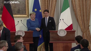 Merkel-Conte © Youtube Euronews