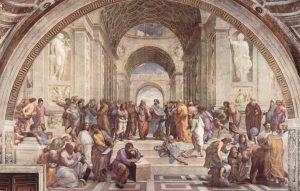 Raffaello Sanzio - La scuola di Atene_ridimensionare