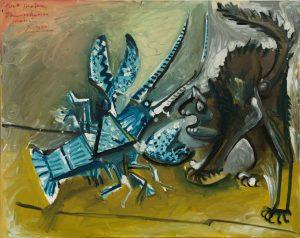 Pablo Picasso Aragosta e gatto © Solomon R. Guggenheim Foundation, New York