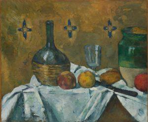 Cézanne Natura morta fiasco, bicchiere e brocca © Solomon R. Guggenheim Foundation, New York