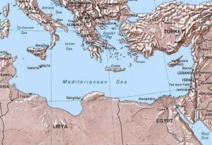 Il tratto di mare tra la Turchia e la Libia