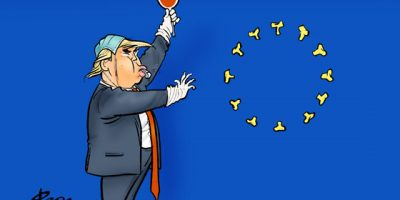 US-Einreiseverbot für Europäer. Divieto d'ingresso negli Stati Uniti per gli europei.