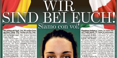 La pagina della Bild Zeitung © Bild Zeitung
