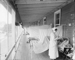 Un ospedale di Washington nel 1918