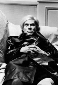 Andy Warhol Vogue Uomo Paris 1974 © Helmut Newton Estate