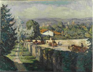 Georg GREVE-LINDAU, Via Senese (vista dal giardino di Villa Romana vicino Firenze), 1912-13 © Landesmuseum Hannover